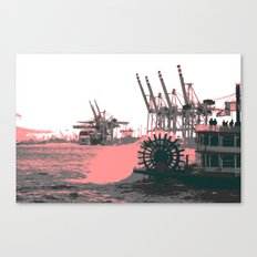 paddle wheel in hamburg Canvas Print