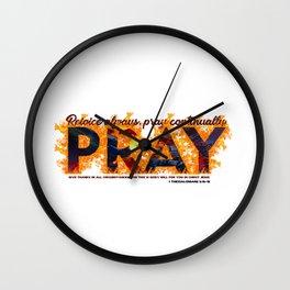 1 Thessalonians 5: 16-18 Wall Clock