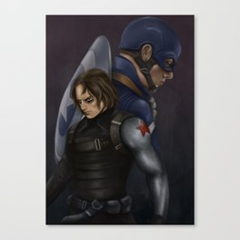 The Soldier and the Captain. Canvas Print