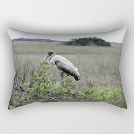 Wood Stork in the Glades Rectangular Pillow