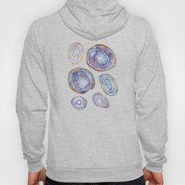 Agate Slices Lavender and Blue Palette Hoody