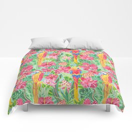 Land Of The Giant Hibiscus Comforters