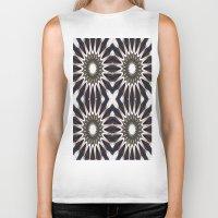 chocolate Biker Tanks featuring Chocolate Flower Mandala Pattern by 2sweet4words Designs