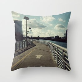 river walkin' Throw Pillow