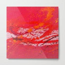 Absolute Red Metal Print