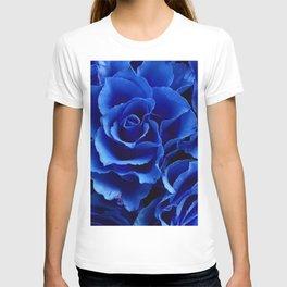 Blue Roses Flowers Plant Romance T-shirt