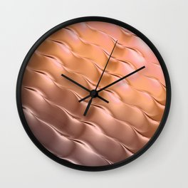 Copper satin ripple Wall Clock