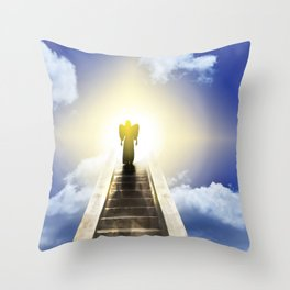Angel On A Stairway To Heaven Throw Pillow