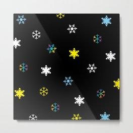 Snowflakes_C Metal Print