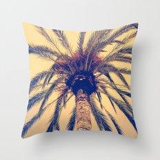 Tenerife Palm Tree Throw Pillow