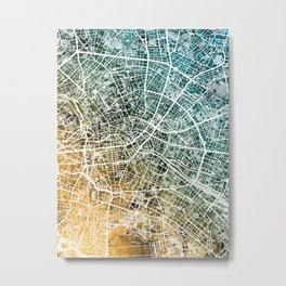 Berlin Germany City Map Metal Print