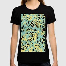 Daisy Scribble Navy, Mint and Lemon T-shirt