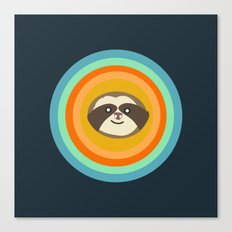 Sloth Target Canvas Print