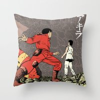 akira Throw Pillows featuring Akira by Rafael Romeo Magat