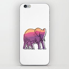 Elephant Mother And Baby iPhone Skin
