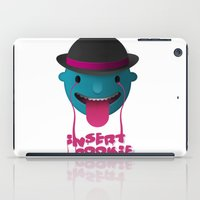 cookie iPad Cases featuring Insert Cookie by mrbiscuit