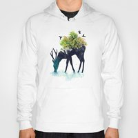 psychedelic art Hoodies featuring Watering (A Life Into Itself) by Picomodi