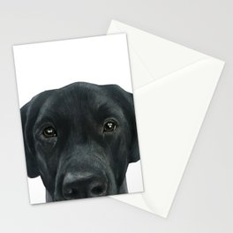 Labrador New, Acrylic painting by miart Stationery Cards