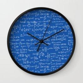 Math Equations // Royal Blue Wall Clock
