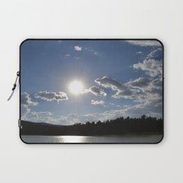 Sun Over Lake in White Mountains Arizona Laptop Sleeve