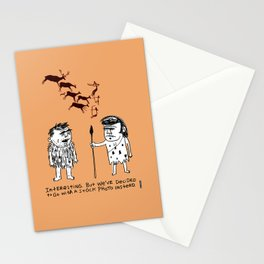 Cavemen Stock Photos / I Drew This Thing Stationery Cards