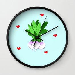Turnip Friends Wall Clock