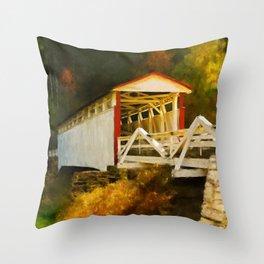 Jackson's Mill Bridge Throw Pillow