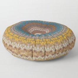 New Color Pyramidal Mandala 47 Floor Pillow
