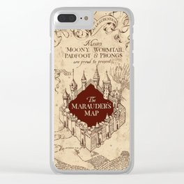Marauder's map Clear iPhone Case