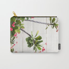 Blooming Crown of Thorns Carry-All Pouch