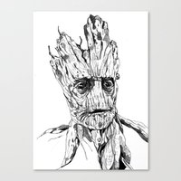 groot Canvas Prints featuring Groot by Giorgia Ruggeri