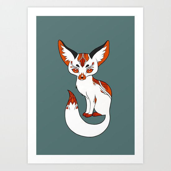 Mysterious Fox Art Print