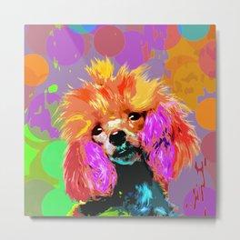 Fun Pop Art Toy Poodle Metal Print