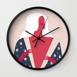 Red Lady Wall Clock