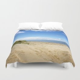 Summer dreams, in the dunes Duvet Cover