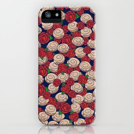 Cinnamon Rolls and Roses iPhone Case