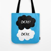 okay Tote Bags featuring Okay by alboradas