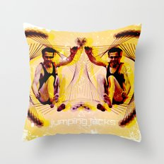 Jumping Jacks Throw Pillow