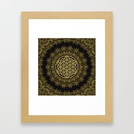 Flower Of Life Mandala Framed Art Print
