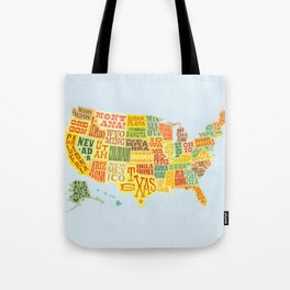 United States of America Map Tote Bag