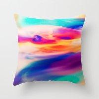 aurora Throw Pillows featuring Aurora by Kimsey Price