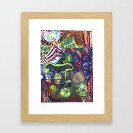 Two-headed Babe Framed Art Print
