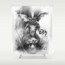 The Fallen Mogwai Shower Curtain