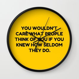 Don't Be Afraid To Do You. Wall Clock