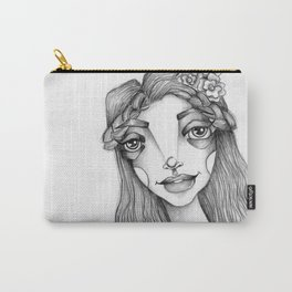 JennyMannoArt Graphite Illustration/Beach Sprite Carry-All Pouch
