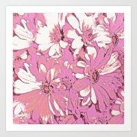 daisy Art Prints featuring Daisy  by Saundra Myles