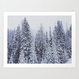MORE SNOW Art Print