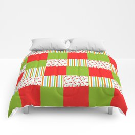 red and green  Comforters