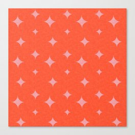 Star Pearl Red Pink Canvas Print