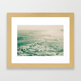 Summer Surf Framed Art Print